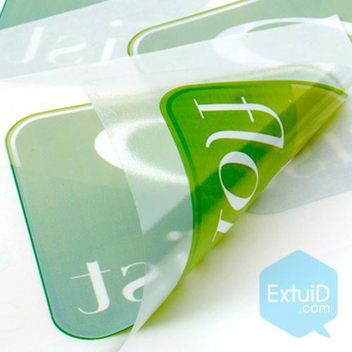 Fabricaci n de etiquetas transparentes adhesivos - Papel adhesivo para cristales ...