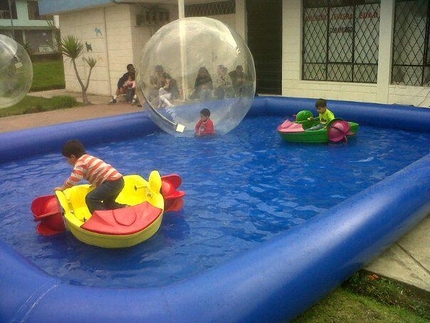 Alquiler y venta de waterball botes chocones piscinas for Accesorios para piscinas inflables
