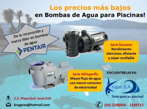 Bombas de agua para piscinas de venta en guayaquil for Bomba de agua para piscina