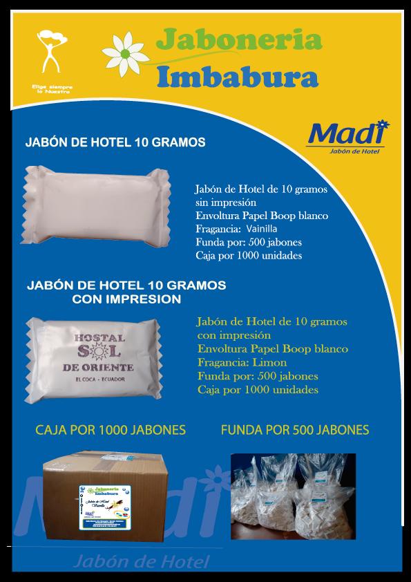 jabon de hoteles ecuador