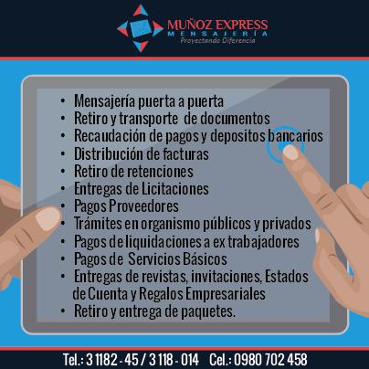 mensajeria puerta a puerta en Quito