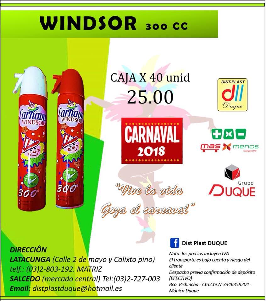 espuma carnaval ecuador